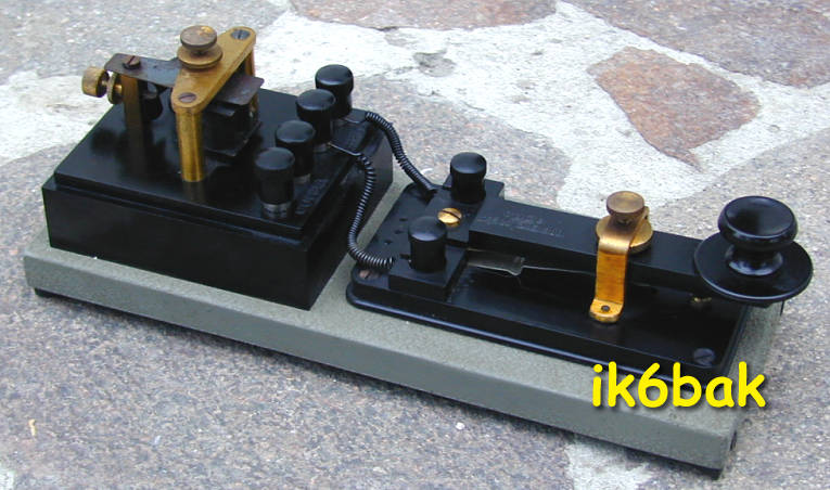 ARGEA telegraph key and buzzer